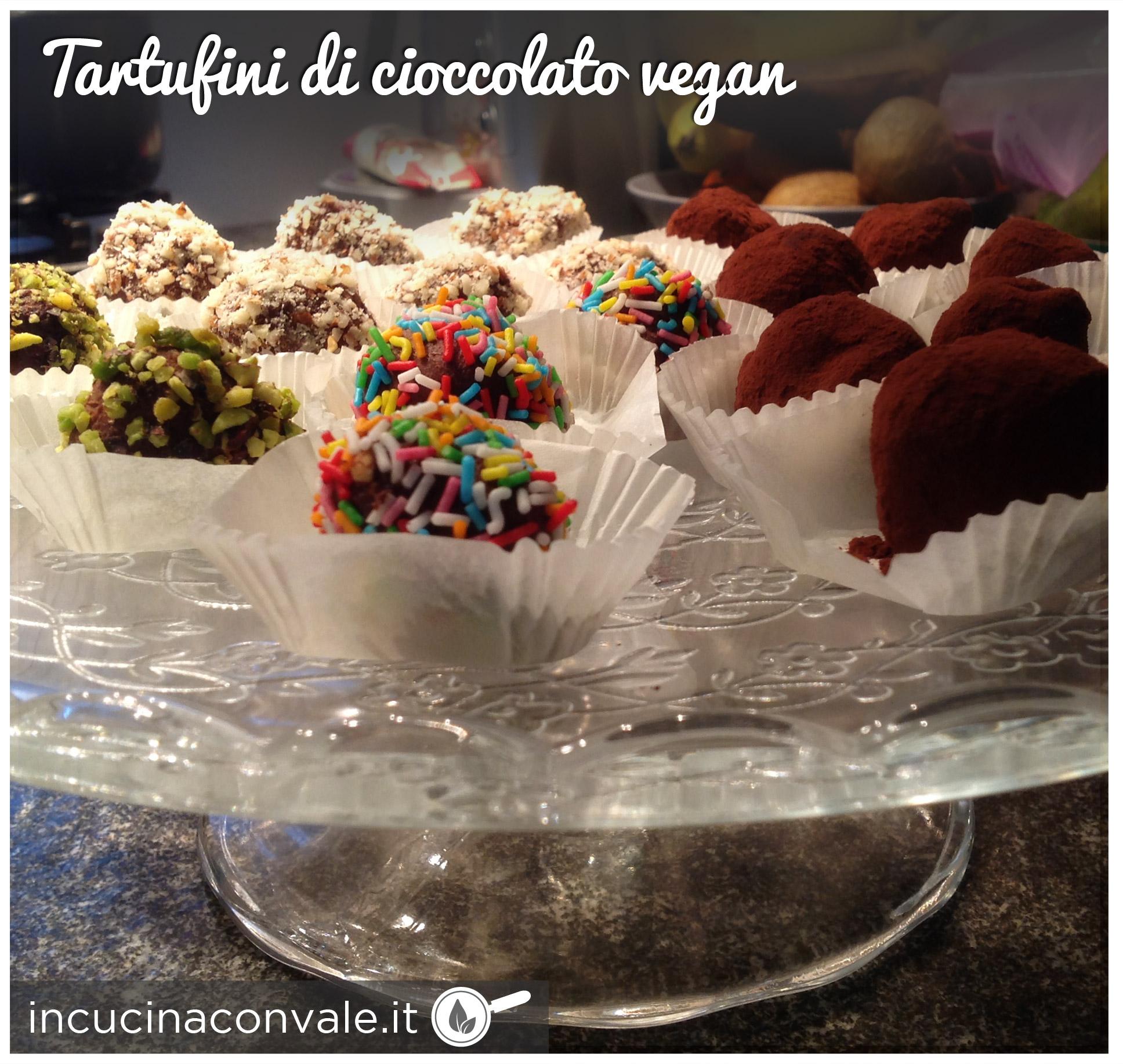 Tartufini vegan al cioccolato