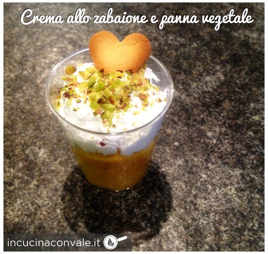 Crema allo zabaione e panna vegetale