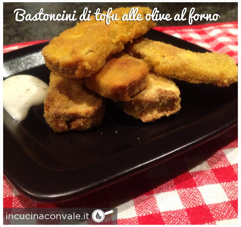 Bastoncini di tofu alle olive al forno