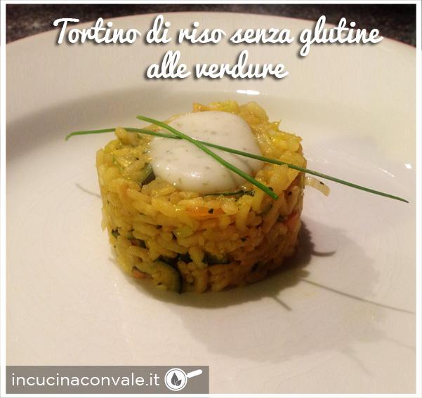 Tortino di riso senza glutine alle verdure
