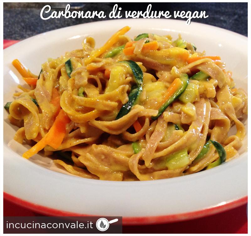 Carbonara di verdure vegan