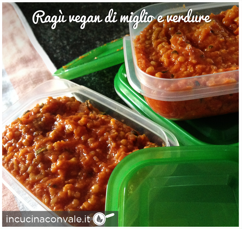 ragù vegan di miglio e verdure
