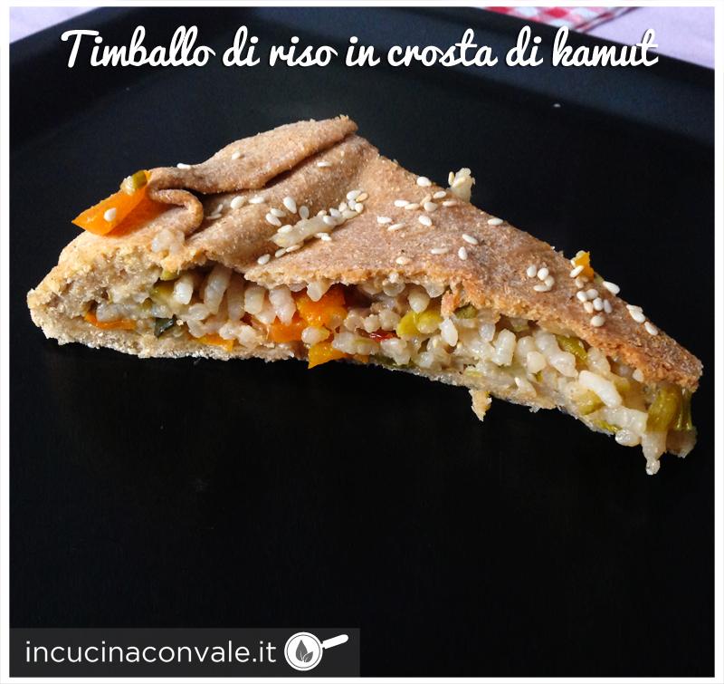 Timballo di riso vegan in crosta di kamut