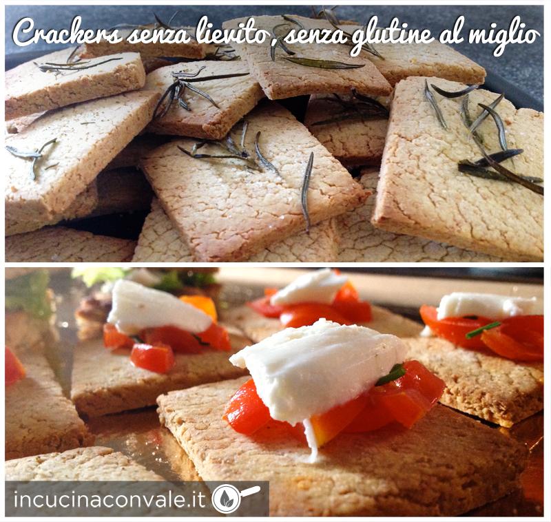 Crackers senza lievito e senza glutine al miglio