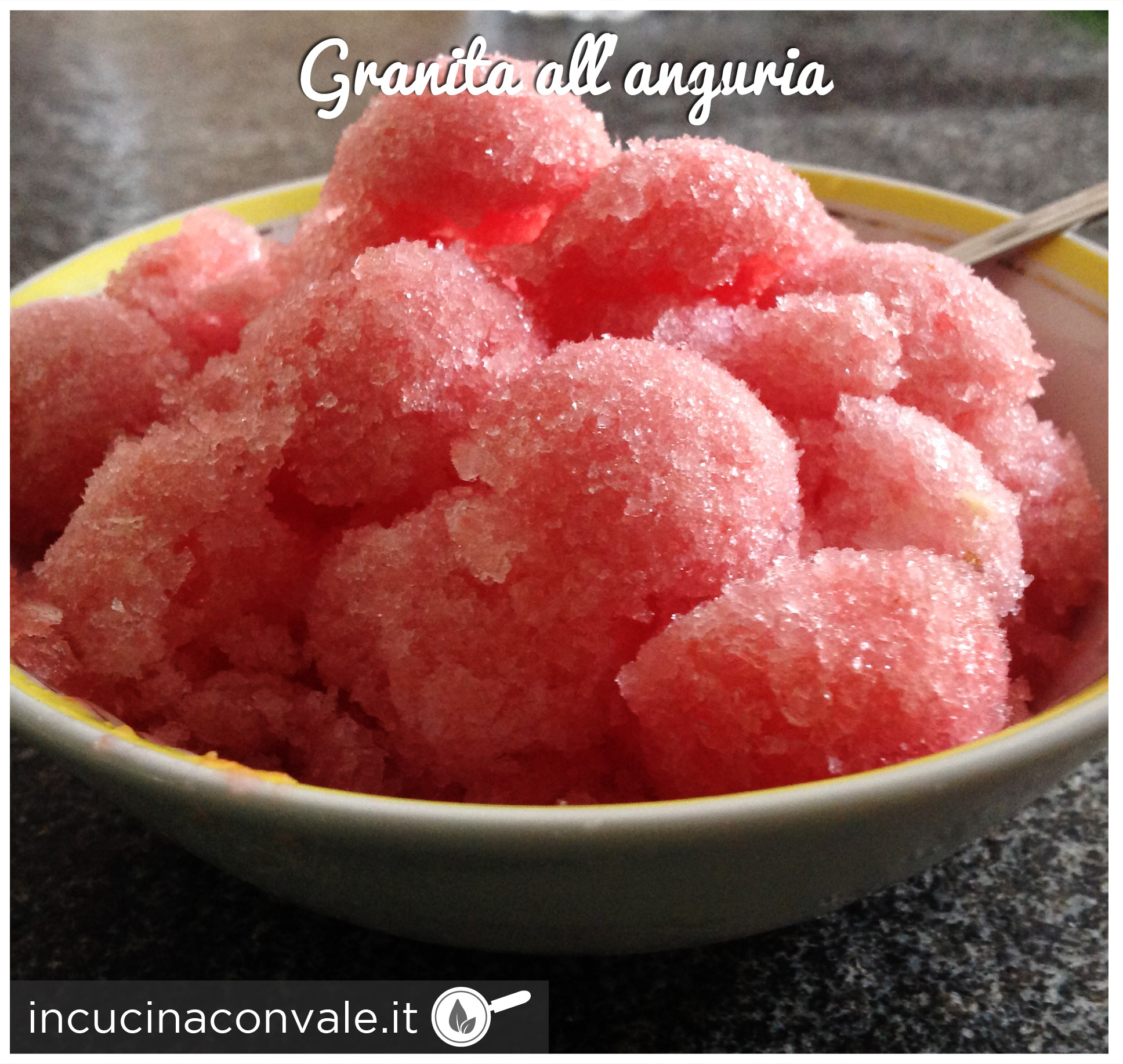 Granita all'anguria senza coloranti ne conservanti