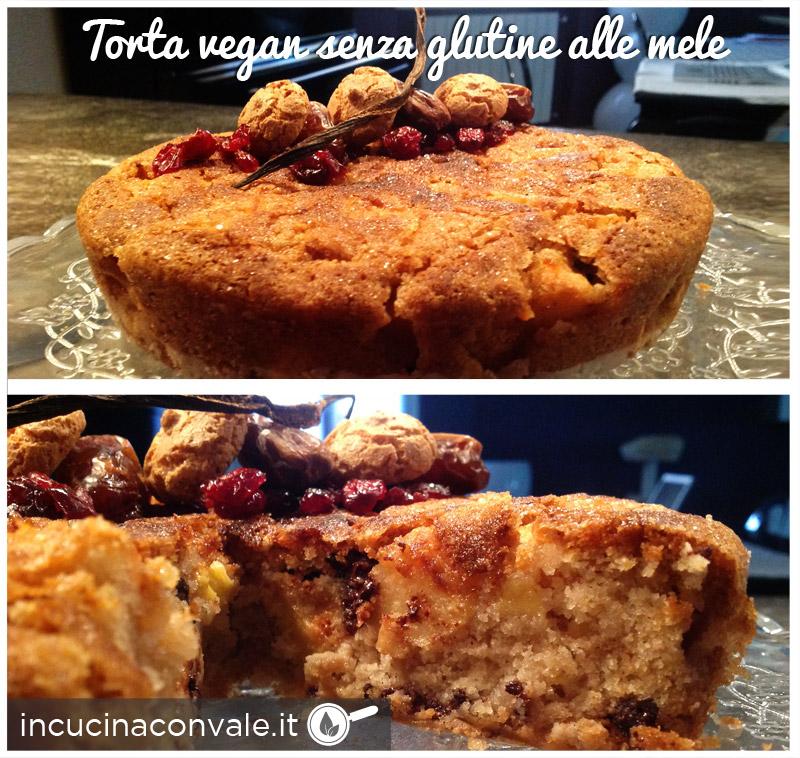 Torta vegan senza glutine alle mele