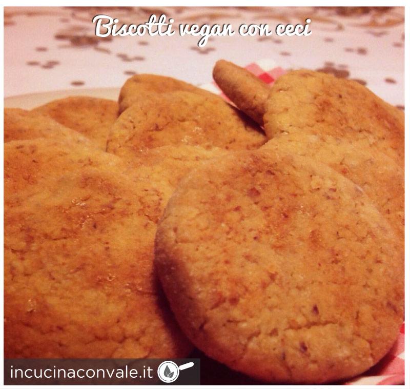 Biscotti vegan con ceci senza uova senza burro senza glutine