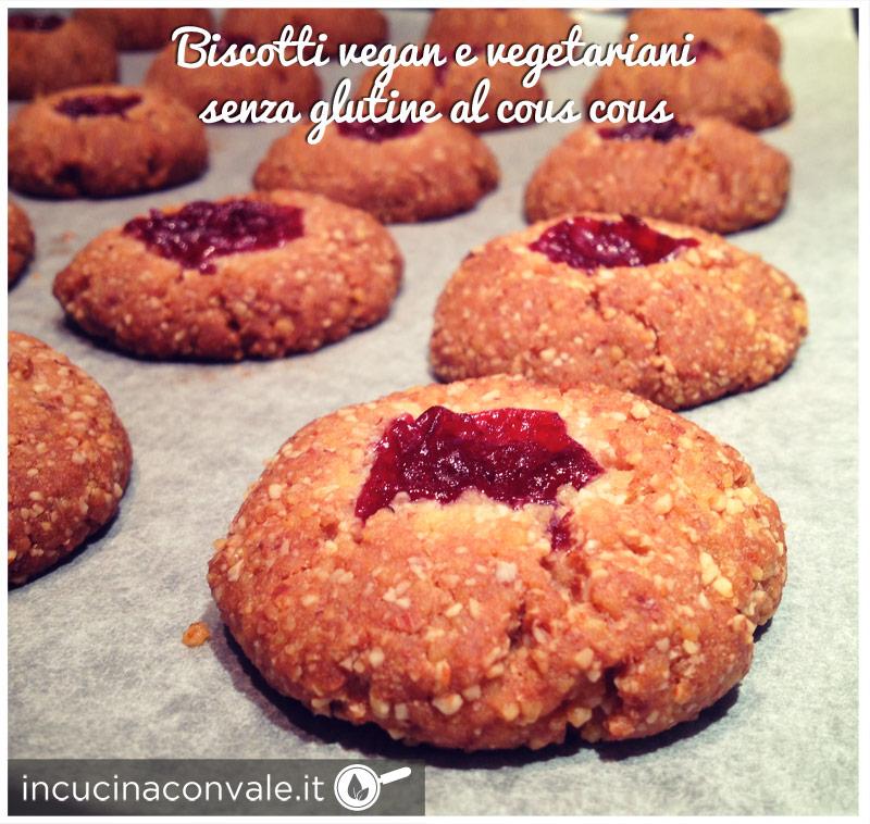 Biscotti al cous cous senza glutine vegan e vegetariani