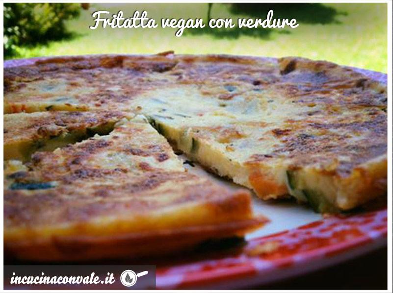 Frittata vegan di verdure con farina di ceci
