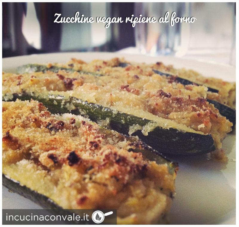 Zucchine vegan ripiene al forno
