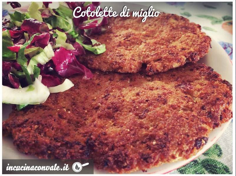 Cotolette di miglio, vegan e senza glutine